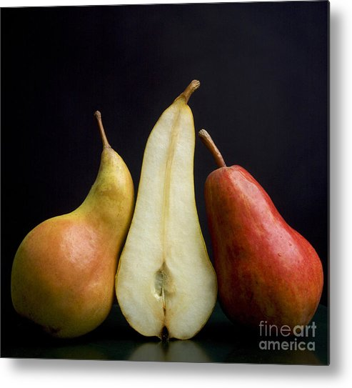 Studio Shot Metal Print featuring the photograph Pears by Bernard Jaubert