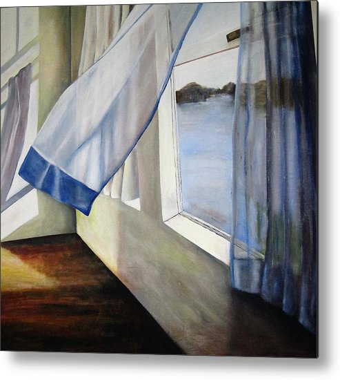 Landscape Metal Print featuring the painting Cindy's Window by Eileen Kasprick