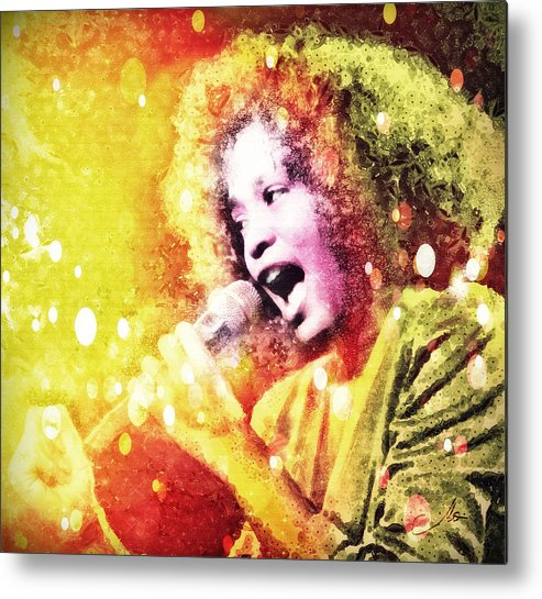 Whitney Houston Metal Print featuring the digital art I Will Always Love You by Mo T