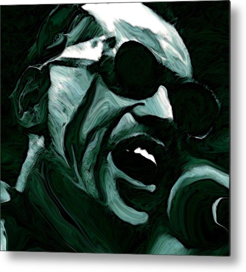 Musicians Metal Print featuring the painting Ray Charles by Jeff DOttavio