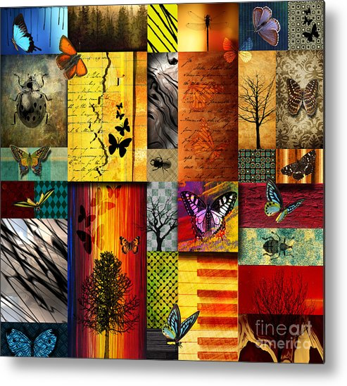 Alpine Metal Print featuring the painting The Butterfly Effect by Ramneek Narang