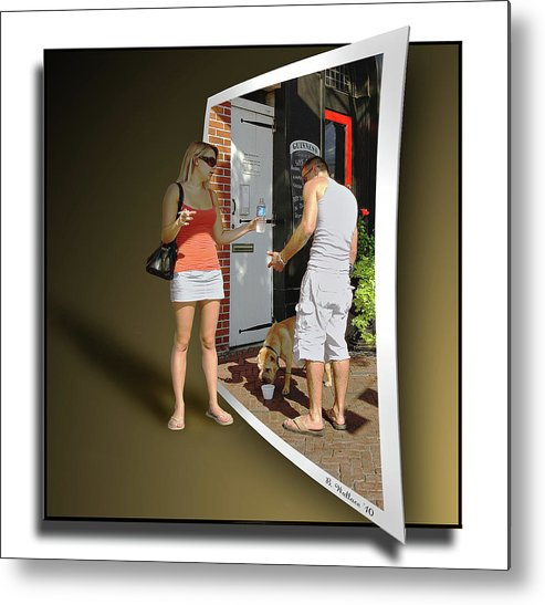 2d Metal Print featuring the photograph Worlds Apart by Brian Wallace