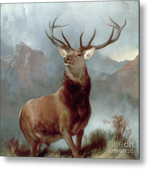 Monarch Metal Print featuring the painting Monarch Of The Glen by Sir Edwin Landseer