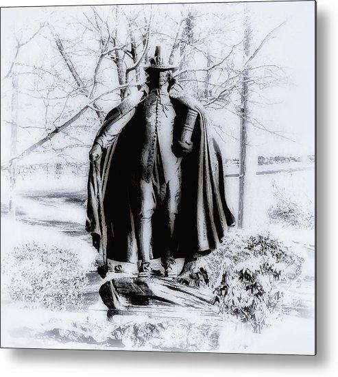 Fairmount Park Metal Print featuring the photograph Quaker Pilgrim by Bill Cannon