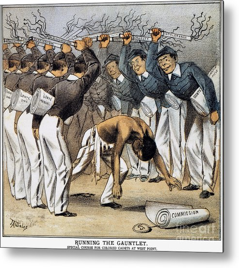 1880 Metal Print featuring the photograph West Point Cartoon, 1880 by Granger