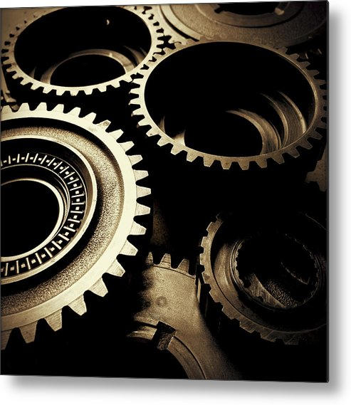 Gearing Metal Print featuring the photograph Cogs by Les Cunliffe