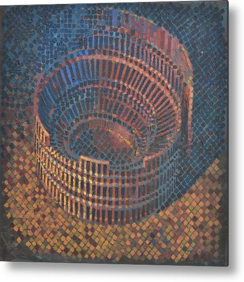 Roman Metal Print featuring the painting Autumn Amphitheatre by Mark Howard Jones