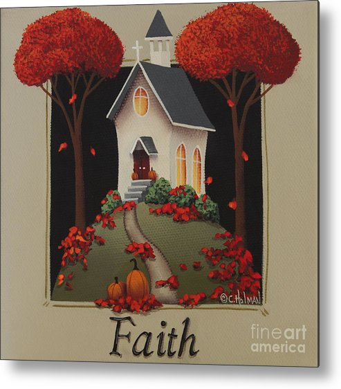 Art Metal Print featuring the painting Faith Country Church by Catherine Holman