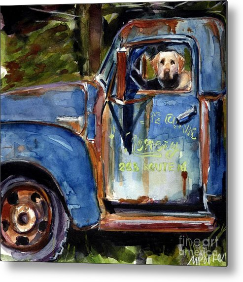 Dog Metal Print featuring the painting Farmhand by Molly Poole