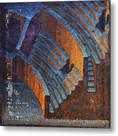 Roman Metal Print featuring the painting Gold Auditorium by Mark Howard Jones