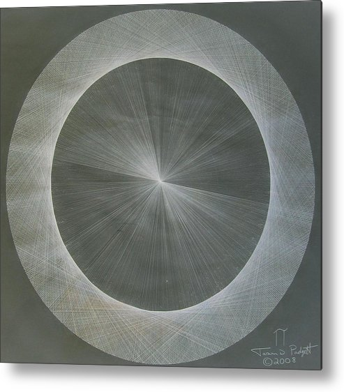 Light Metal Print featuring the drawing Light Is Pi The Shape Of Pi by Jason Padgett