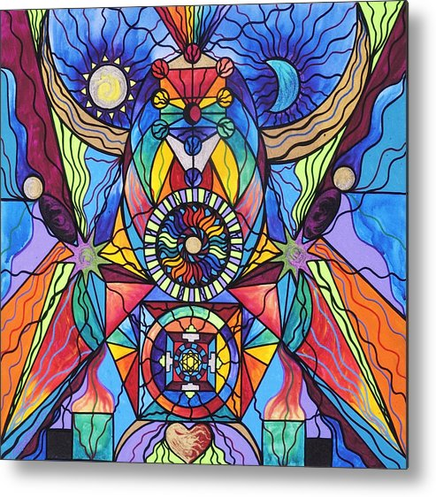Spiritual Teacher Metal Print featuring the painting Spiritual Guide by Teal Eye Print Store
