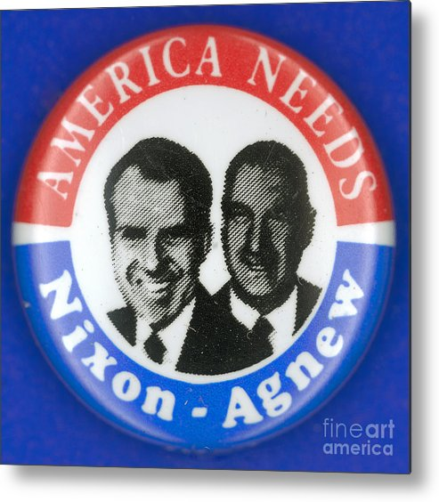 1972 Metal Print featuring the photograph Presidential Campaign:1972 by Granger