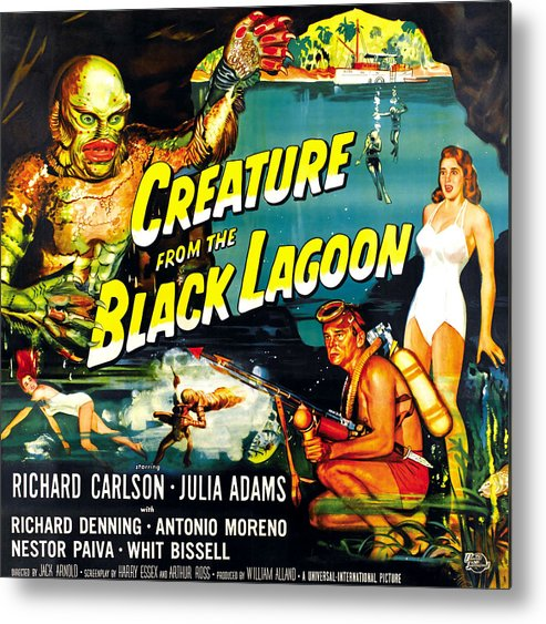 1950s Movies Metal Print featuring the photograph Creature From The Black Lagoon by Everett