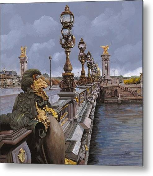 Paris Metal Print featuring the painting Paris-pont Alexandre IIi by Guido Borelli