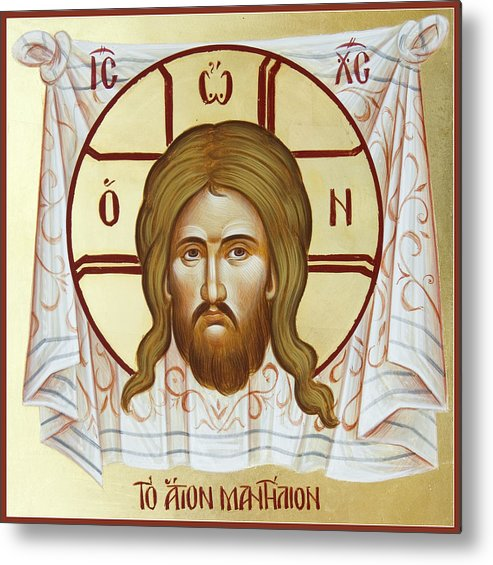 Holy Napkin Metal Print featuring the painting The Holy Napkin by Julia Bridget Hayes