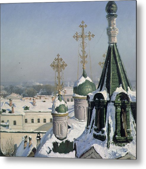 View Metal Print featuring the painting View From A Window Of The Moscow School Of Painting by Sergei Ivanovich Svetoslavsky