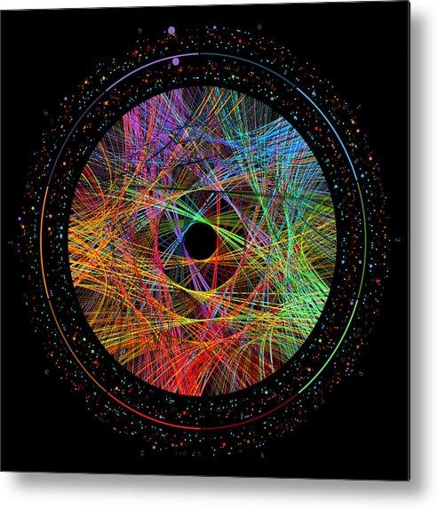 Pi Metal Print featuring the digital art Pi Transition Paths by Martin Krzywinski