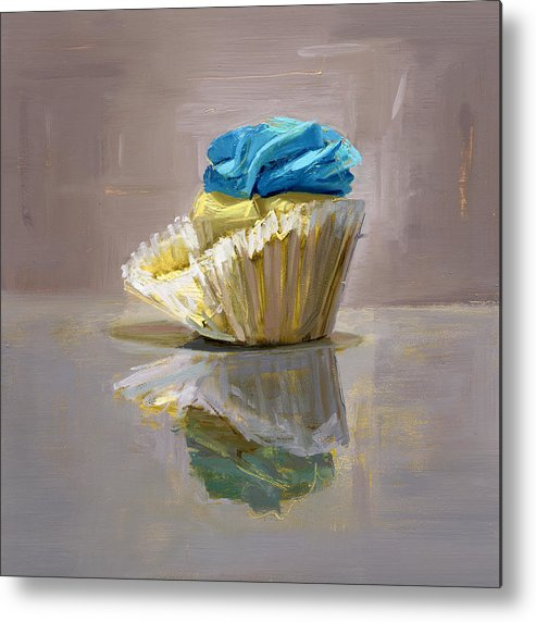 Cupcake Metal Print featuring the painting Rcnpaintings.com by Chris N Rohrbach