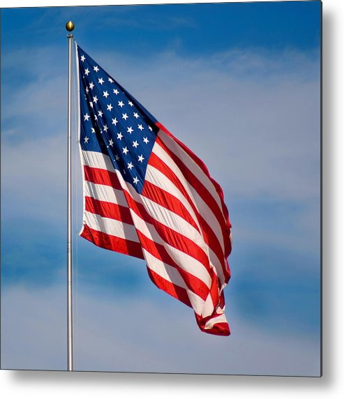America Metal Print featuring the photograph American Flag by Benjamin Reed