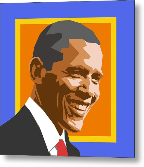Barack Metal Print featuring the digital art Barack by Douglas Simonson