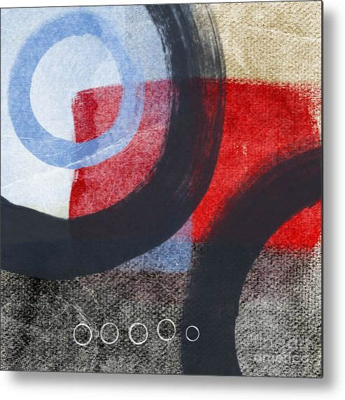 Circles Metal Print featuring the painting Circles 1 by Linda Woods