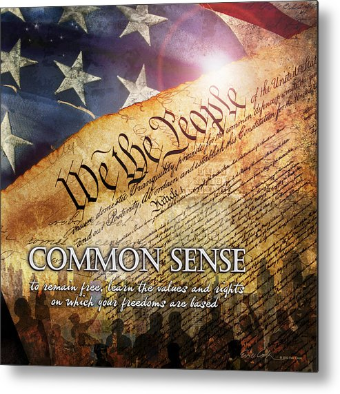 Constitution Metal Print featuring the digital art Common Sense by Evie Cook
