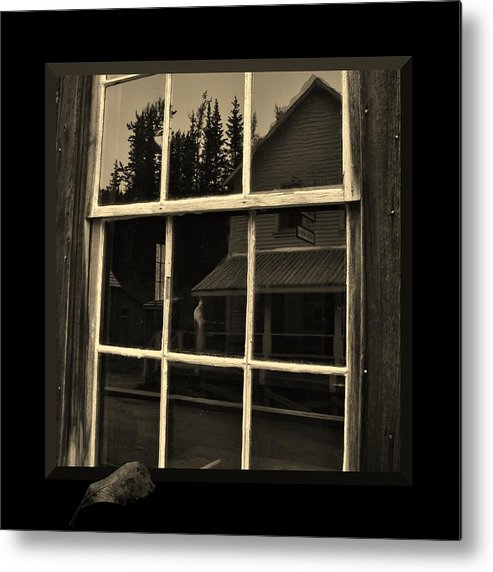 Western Metal Print featuring the Glass Ghost by Barbara St Jean