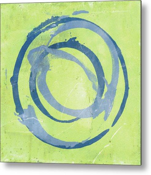 Green Metal Print featuring the painting Green Blue by Julie Niemela