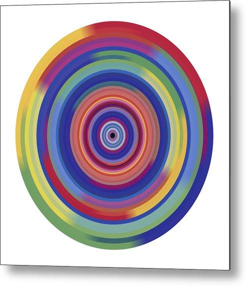 Orbit Digital Art Metal Print featuring the painting Mandala 3 by Rozita Fogelman