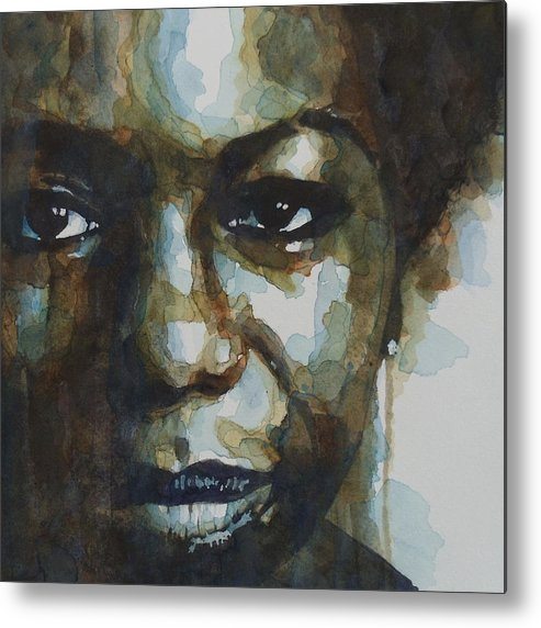 Nina Simone Metal Print featuring the painting Nina Simone by Paul Lovering