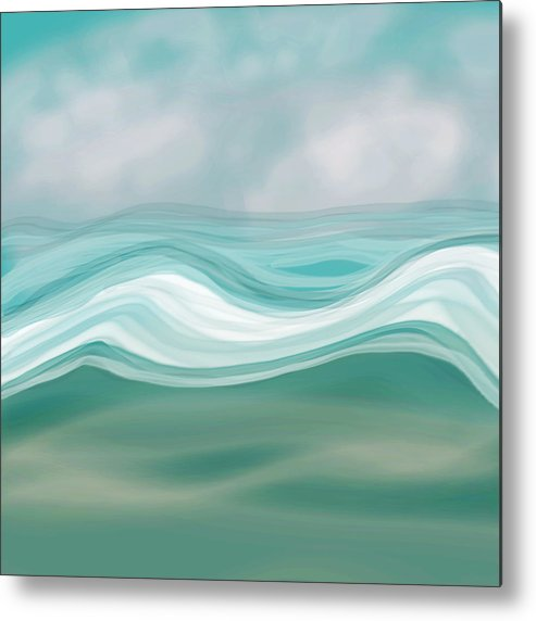 Pacific Ocean Metal Print featuring the painting Pacific Paradise by Bonnie Bruno