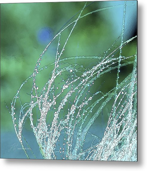 Grass Metal Print featuring the painting Spring Grass by Artist and Photographer Laura Wrede