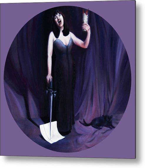 Shelley Irish Metal Print featuring the painting The Heretic by Shelley Irish