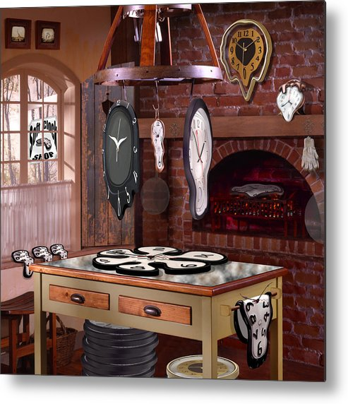 Surrealism Metal Print featuring the photograph The Soft Clock Shop 3 by Mike McGlothlen