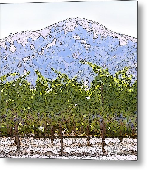 Cour De Valle Vineyard Metal Print featuring the painting The Taste Of Wine by Artist and Photographer Laura Wrede