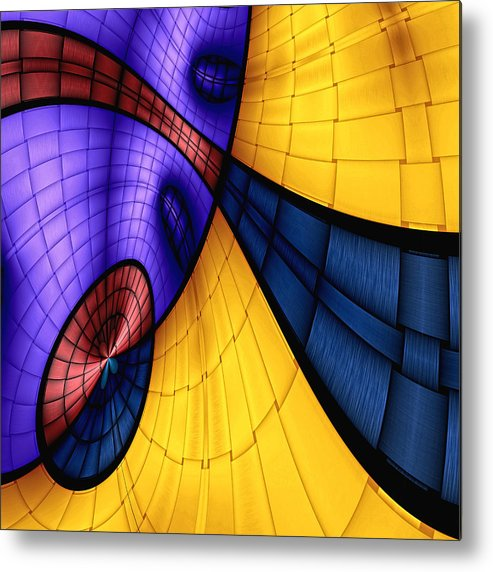 Abstract Metal Print featuring the digital art View From The Top 2 by Wendy J St Christopher