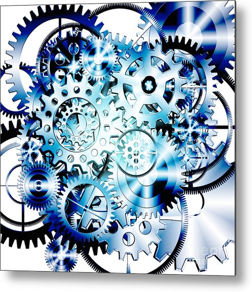 Art Metal Print featuring the photograph Gears Wheels Design by Setsiri Silapasuwanchai