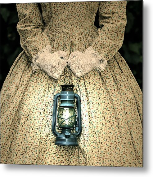 Female Metal Print featuring the photograph Lantern by Joana Kruse