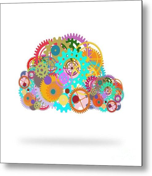 Art Metal Print featuring the painting Gears Wheels Design by Setsiri Silapasuwanchai