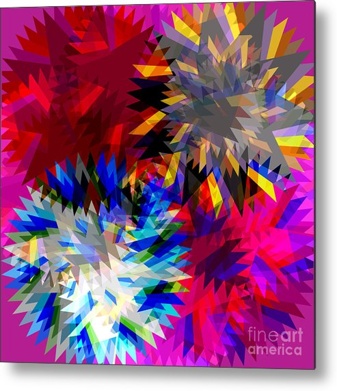 Allure Metal Print featuring the digital art Blade In Pink by Atiketta Sangasaeng