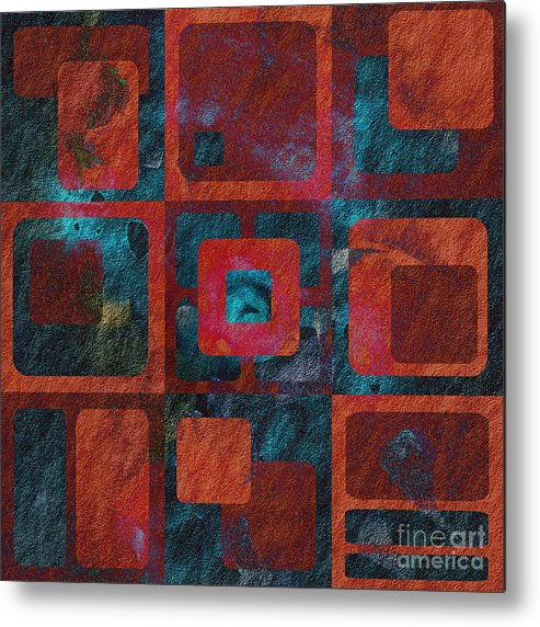 Abstract Metal Print featuring the digital art Geomix 02 - Sp07c03b by Variance Collections