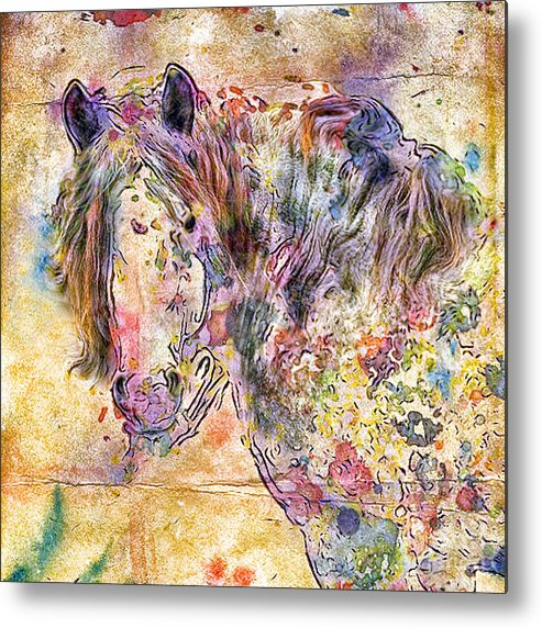Horses Metal Print featuring the digital art Gypsy Babe by Marilyn Sholin