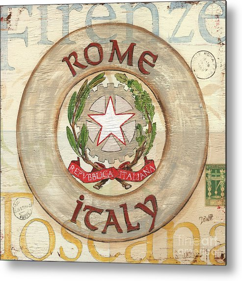 Rome Metal Print featuring the painting Italian Coat Of Arms by Debbie DeWitt