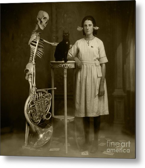 Last Ouija Game Metal Print featuring the photograph Last Ouija Game by Paul Grand