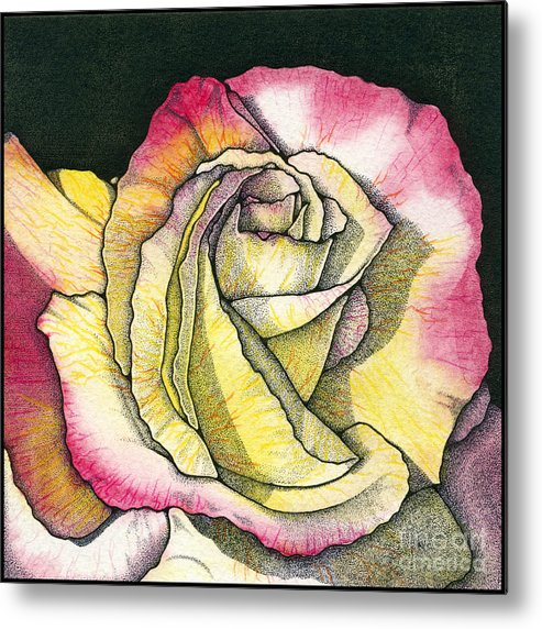 Rose Metal Print featuring the painting Memories by Nora Blansett
