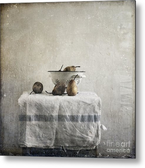 Pears Under Grunge Textures Metal Print featuring the photograph Pears Under Grunge by Paul Grand