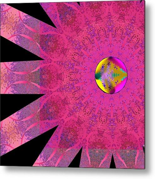 Pink Metal Print featuring the digital art Pink Ribbon Of Hope by Alec Drake