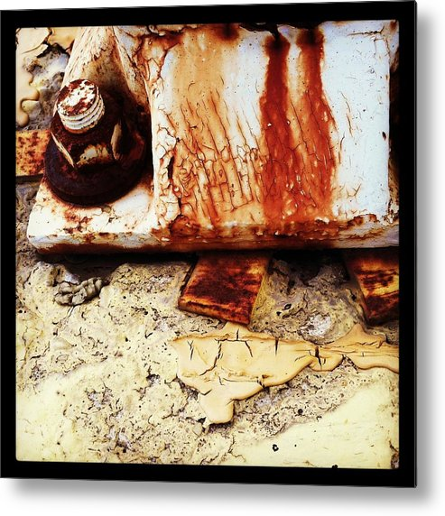 Rust Metal Print featuring the photograph Rusty Bolt Abstraction by Anna Villarreal Garbis