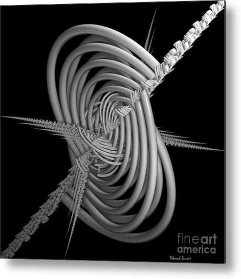 Abstract Metal Print featuring the digital art Sput 2 by Deborah Benoit
